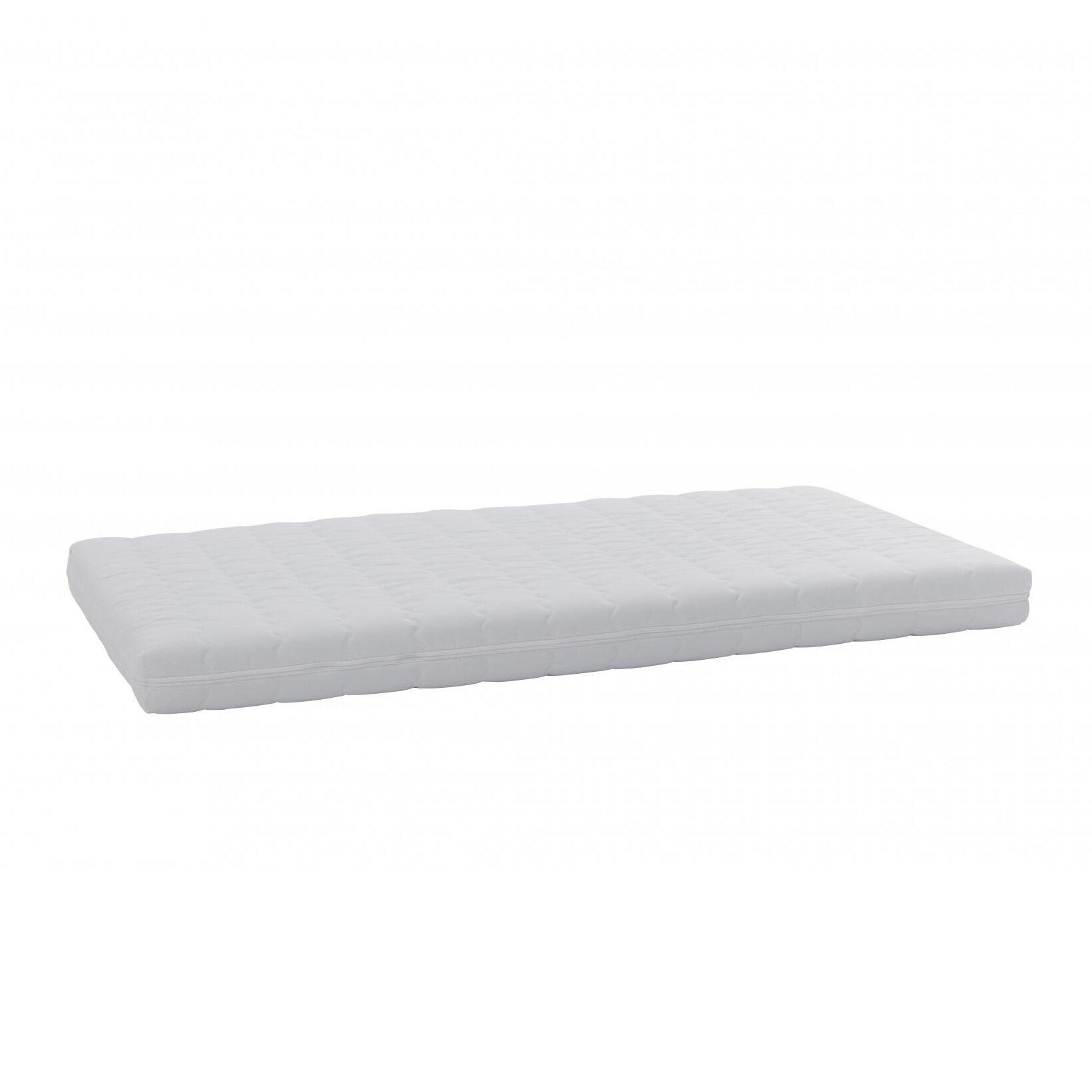 Müller Small Living Matelas de couchette empilable pour enfants 70x140 - blanc/lavable à 60°C/H 10cm/degré de dureté H2 medium/mousse confort/housse en coton
