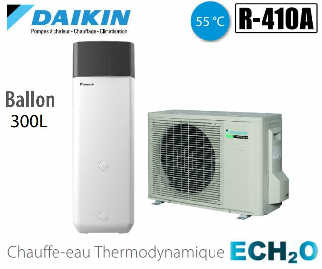 Daikin Chauffe-eau thermodynamique Daikin ECH2O ERWQ02AV3 + EKHHP300A2V3