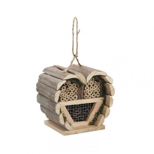 Lubéron Apiculture Maison à insectes bois en forme de coeur