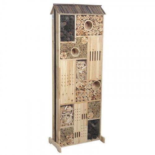 Lubéron Apiculture Hôtel à insectes double face bois 145 cm