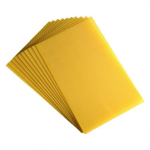 Lubéron Apiculture 10 feuilles de cire d'abeille gaufrées 'Sélection' pour Corps Dadant