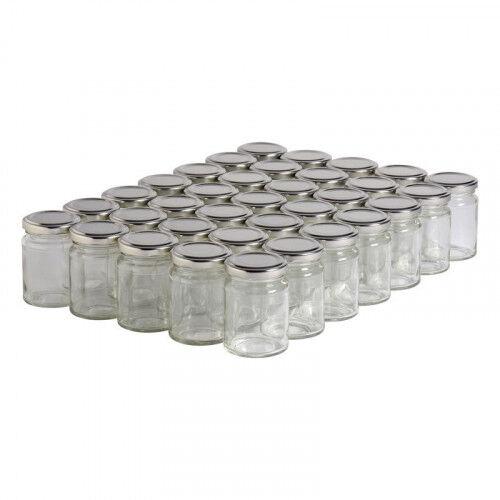 Lubéron Apiculture 35 pots verre droits 125g (106 ml) avec couvercle TO 48 - Couvercle - Argenté
