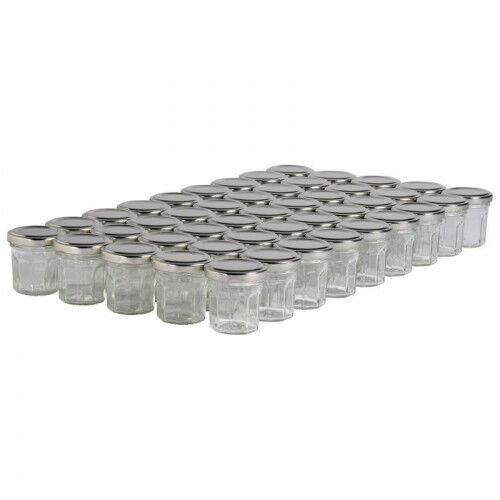 Lubéron Apiculture 45 pots verre facettes 50g (44 ml) avec couvercle TO 48 - Couvercle - Argenté