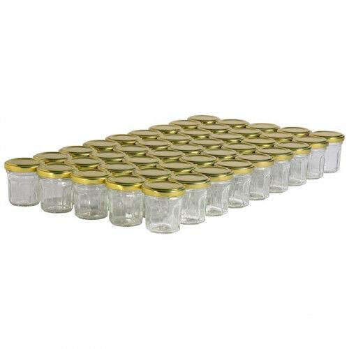 Lubéron Apiculture 45 pots verre facettes 50g (44 ml) avec couvercle TO 48 - Couvercle - Doré