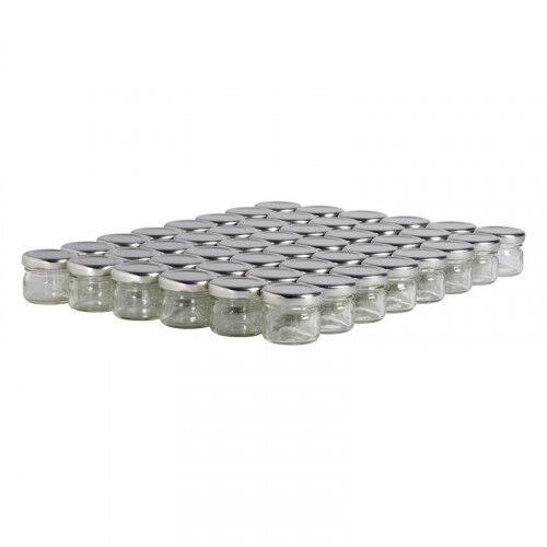 Lubéron Apiculture 48 pots verre 30g (32 ml) avec couvercle TO 43 - Couvercle - Argenté