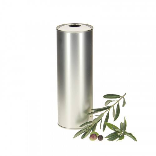 Lubéron Apiculture 20 bidons metal argent pour huile d'olive 75cl