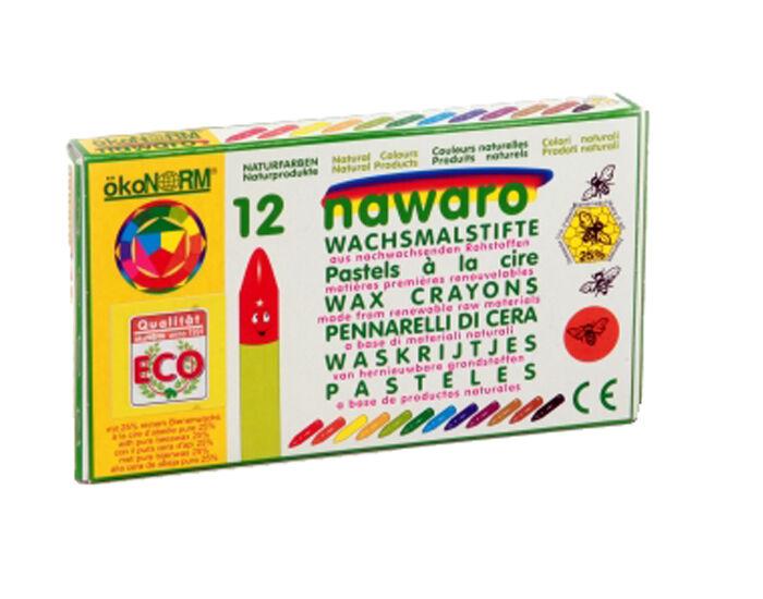 OKONORM Crayons à la Cire d'Abeille - dès 3 ans 12 couleurs