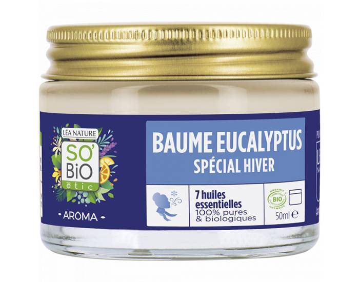 SO'BIO Baume Eucalyptus - 7 Huiles Essentielles - 50 ml
