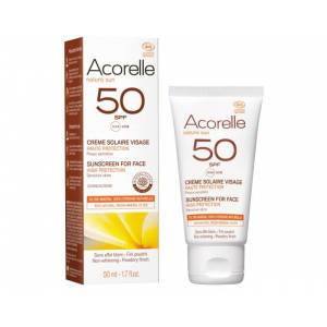 ACORELLE Crème Solaire Visage Haute Protection SPF 50 - 50 ml