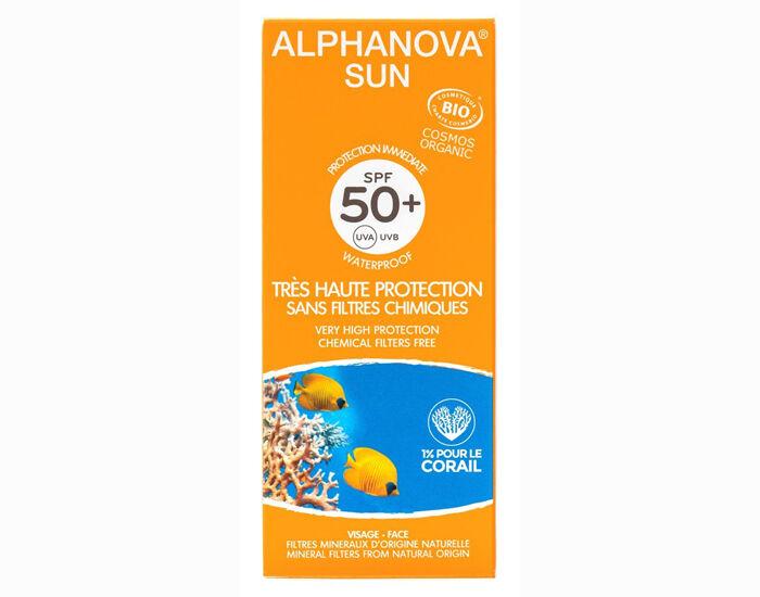 ALPHANOVA Sun Crème Solaire Bio Très Haute Protection - SPF 50+ - 50 ml