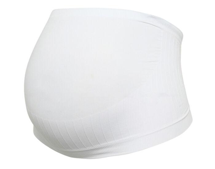 CARRIWELL Ceinture de Soutien pour la Grossesse - Blanc L = 40-42