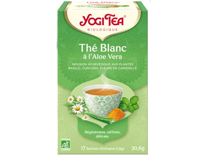 YOGI TEA Tisane en Sachet - Thé Blanc Aloe Vera - 17 Sachets