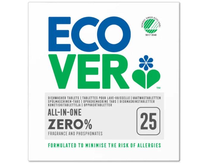 ECOVER Zéro Tablettes Lave-Vaisselle Tout-en-Un - 25 Tab