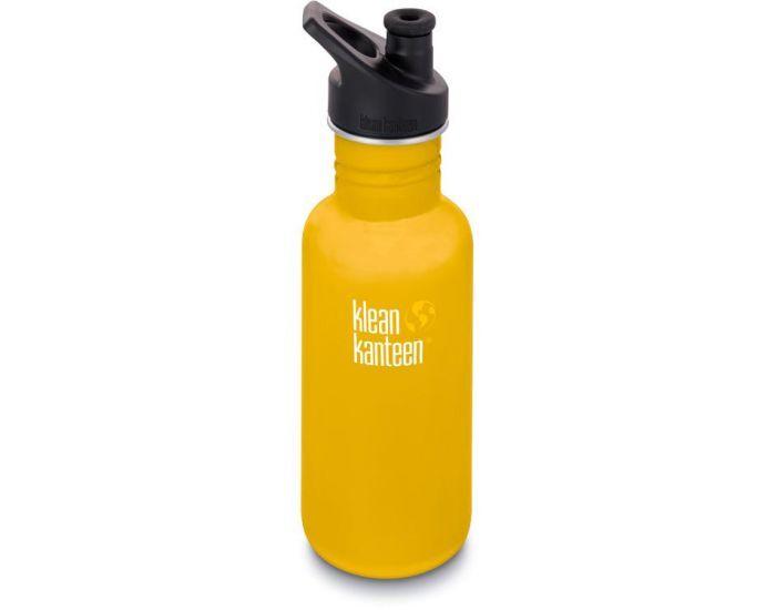 KLEAN KANTEEN Gourde Inox Classique - Bouchon Sport  - 532 ml Lemon Curry