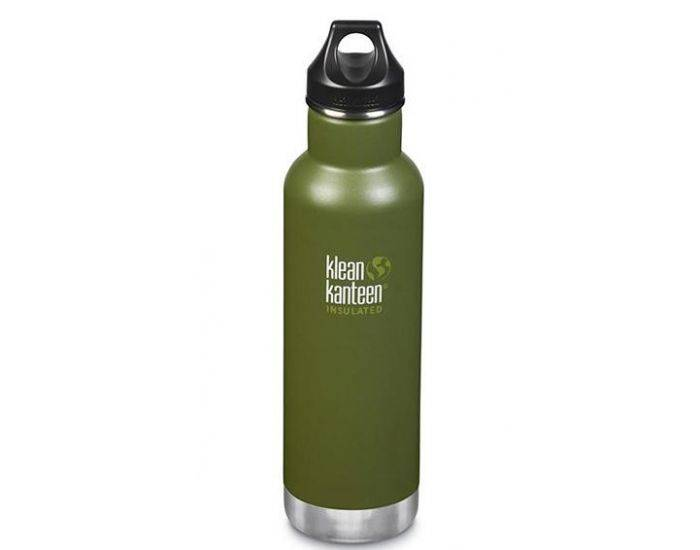 KLEAN KANTEEN Gourde Inox isotherme Fresh Pine - Bouchon Classique - 592 ml