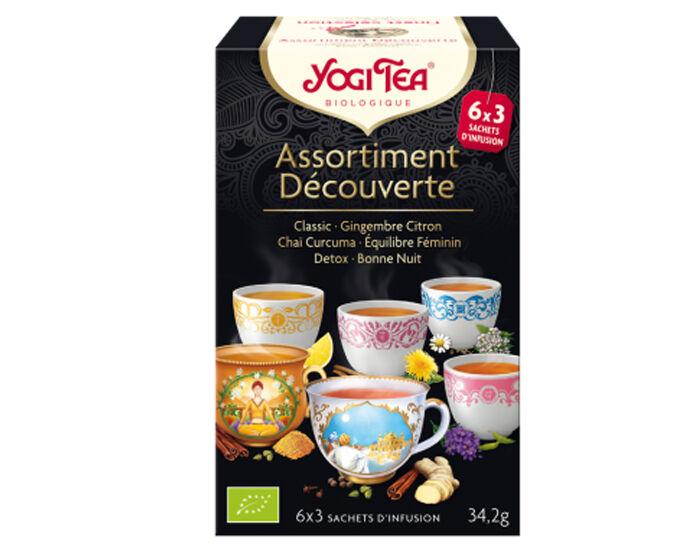 YOGI TEA Tisanes en Sachet - Assortiment Découverte  - 18 Sachets