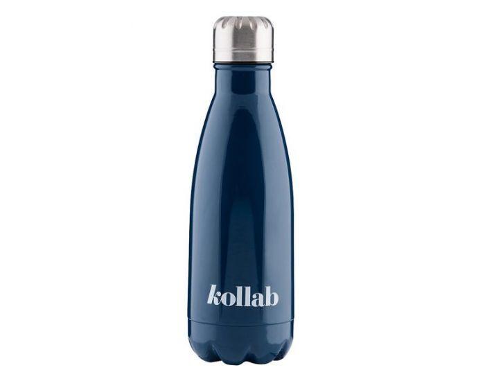 KOLLAB Gourde Isotherme en Inox - 350 ml Navy