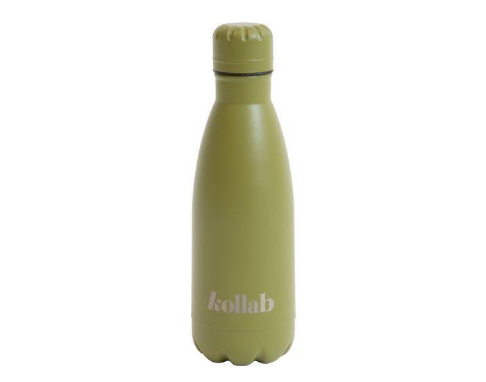 KOLLAB Gourde Isotherme en Inox - 350 ml Khaki