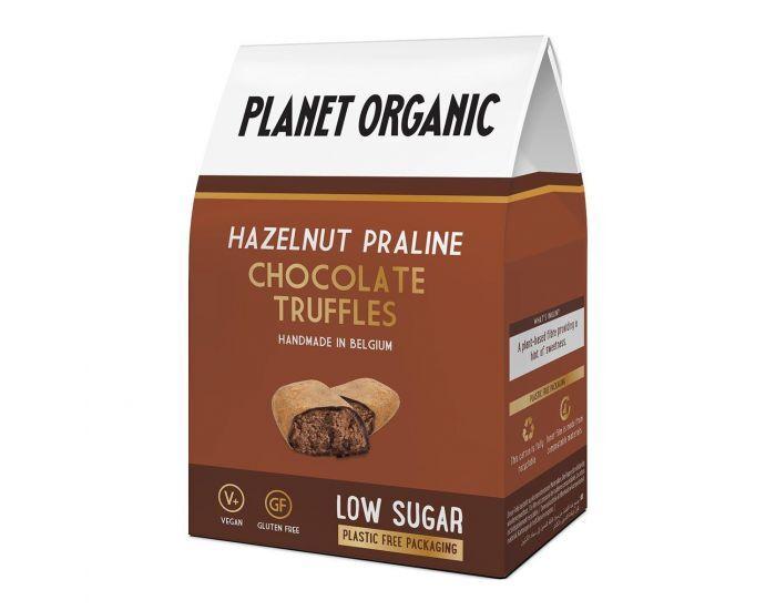PLANET ORGANIC Truffes Chocolatées Noisette Bio - 80g