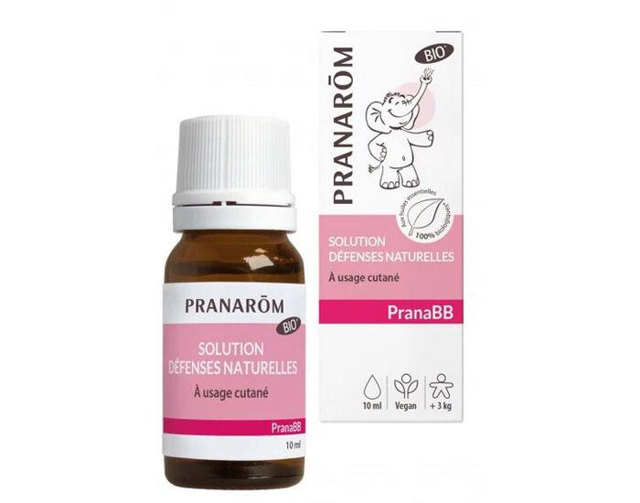 PRANAROM PranaBB - Huile de Massage Bio Bébé - Défenses Naturelles 10 ml - Dès 3 mois