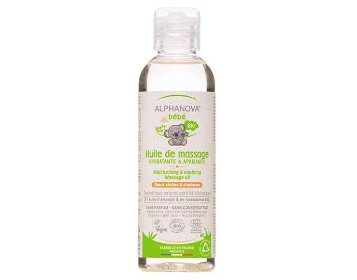 ALPHANOVA Huile Hydratante et de Massage Bébé - 100 ml