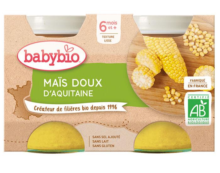 BABYBIO Mes Légumes - 2x130g Maïs Doux d'Aquitaine - 6 mois