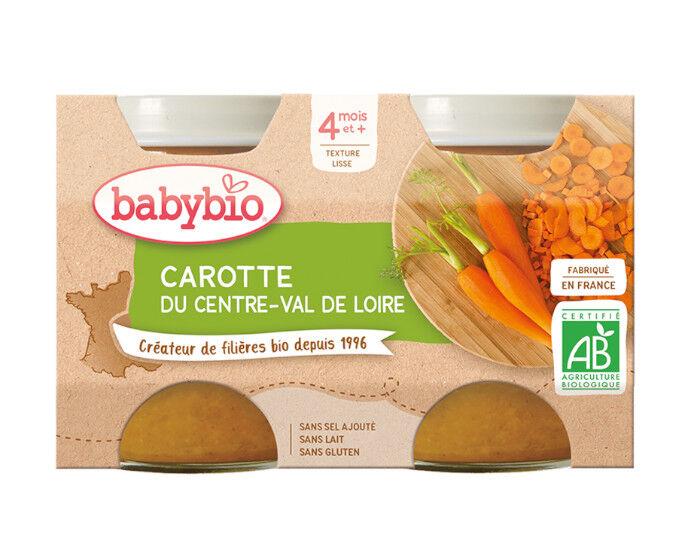 BABYBIO Mes Légumes - 2x130g Carotte - 4 mois