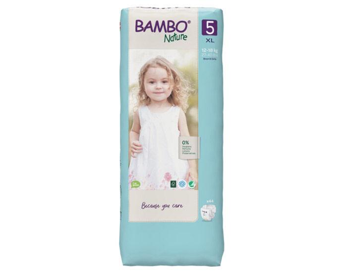 BAMBO NATURE Couches Écologiques Nature - Pack Économique  T5 / 12-18 kg / 44 couches