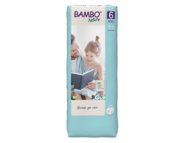 BAMBO NATURE Couches Écologiques Nature - Pack Économique  T6 / +16 kg / 40 couches