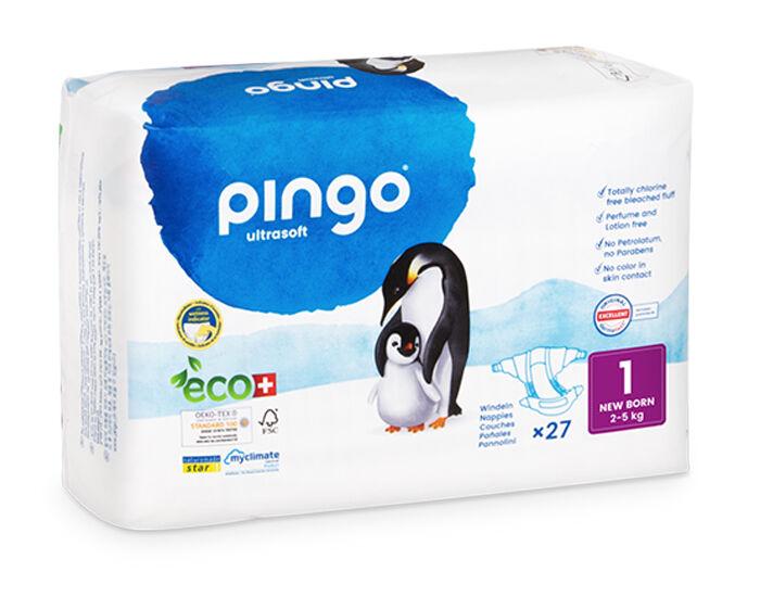 PINGO Couches Écologiques Ultra Soft T1 / 2-5 kg / 27 couches