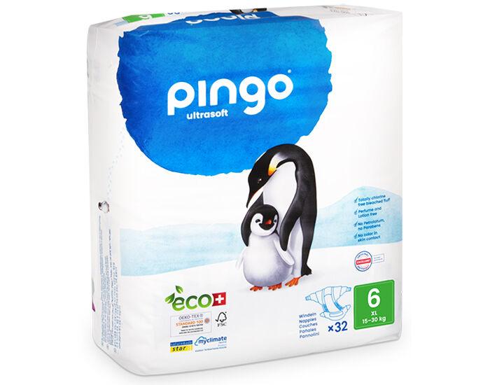 PINGO Couches Écologiques Ultra Soft T6 / 16-30 kg / 32 couches