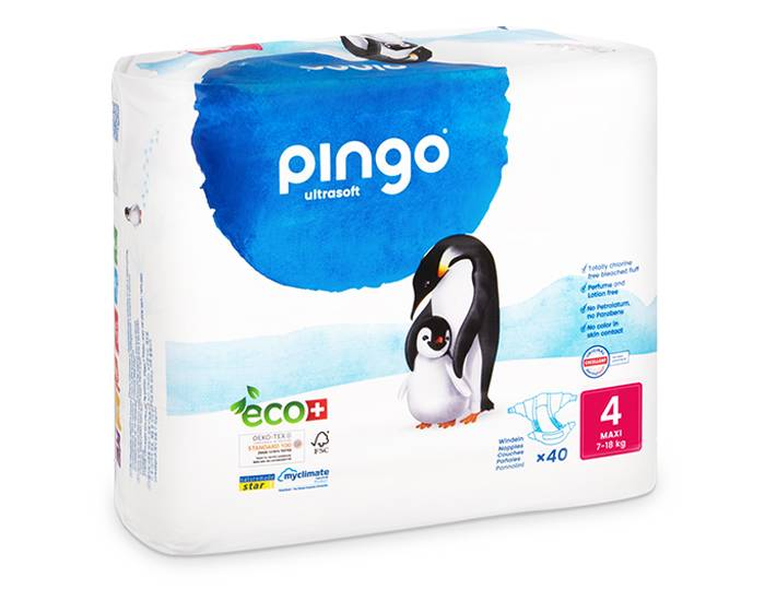 PINGO Pack x2 Couches Écologiques Ultra Soft T4 / 7-18Kg / 2 x 40 couches