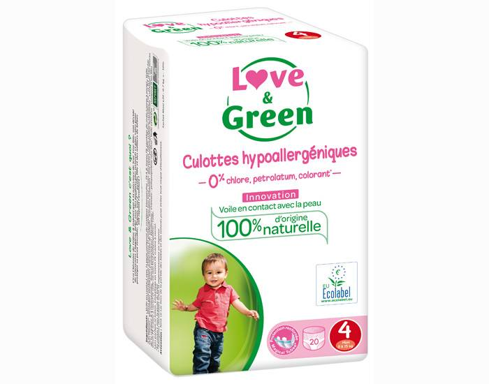Love and Green Culottes d'Apprentissage Hypoallergéniques T4 (8/15 Kg)