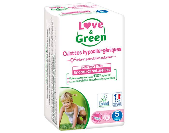 Love and Green Culottes d'Apprentissage Hypoallergéniques T5 (12/18 Kg)