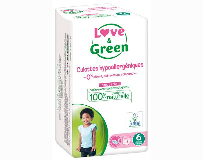 Love and Green Culottes d'Apprentissage Hypoallergéniques T6+ (16 Kg et +)