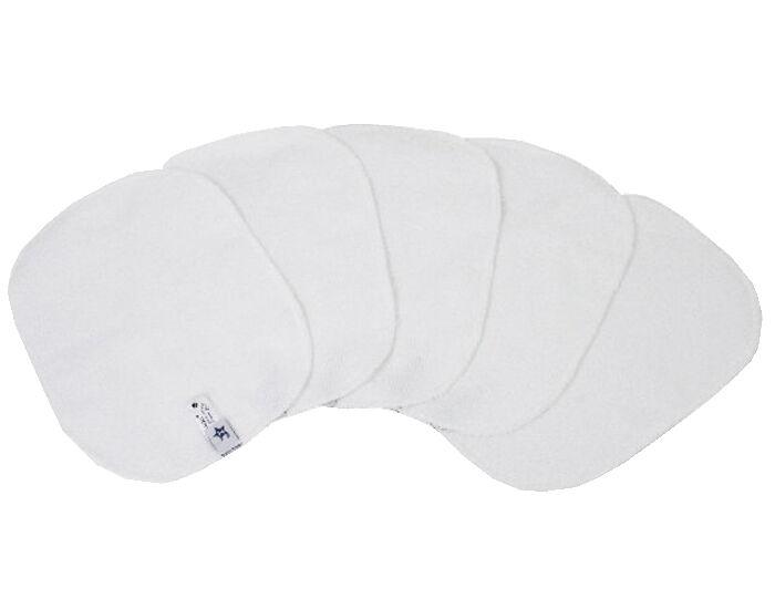 HAMAC Lot de 5 Lingettes Lavables - Blanc