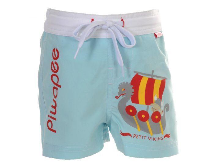 PIWAPEE Short Couche Anti Fuite Clipsable Swim+ Bébé Nageur - Viking Bleu Ciel 8-11 KG ( 6-12M)