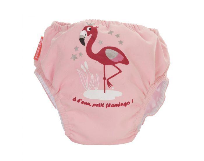 PIWAPEE Maillot Couche Anti Fuite Clipsable Swim + Bébé Nageur - Flamingo Rose 11-14 KG (12-24M)