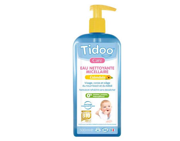 TIDOO Pack x2 Eau Nettoyante Micellaire Bio au Calendula Bébé - 1L 2 x 1 L