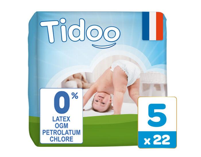 TIDOO Couches Écologiques Nature T5 / 12-25 kg / 22 couches