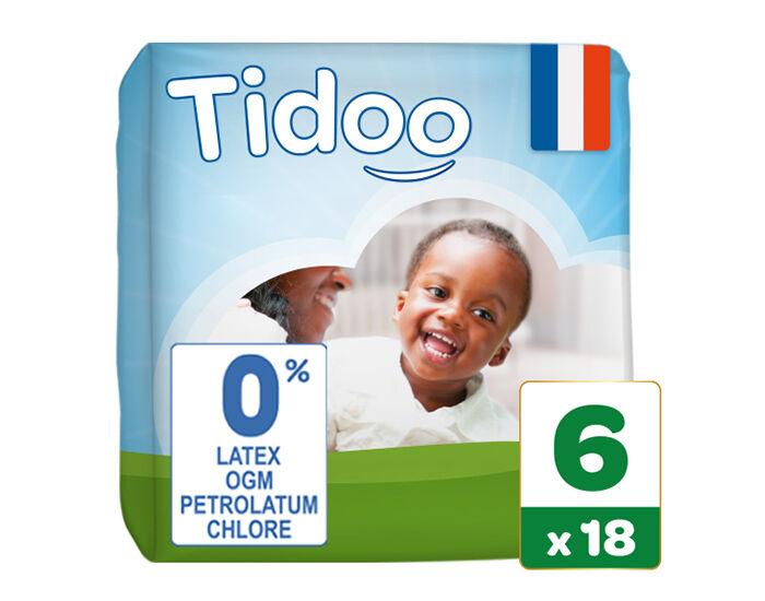 TIDOO Couches Écologiques Nature T6 / 16-30 kg / 18 couches