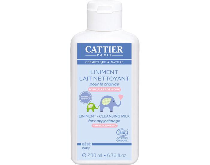 CATTIER Liniment Lait Nettoyant Bio pour le Change 200 ml