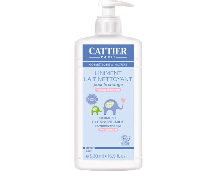 CATTIER Liniment Lait Nettoyant Bio pour le Change 500 ml