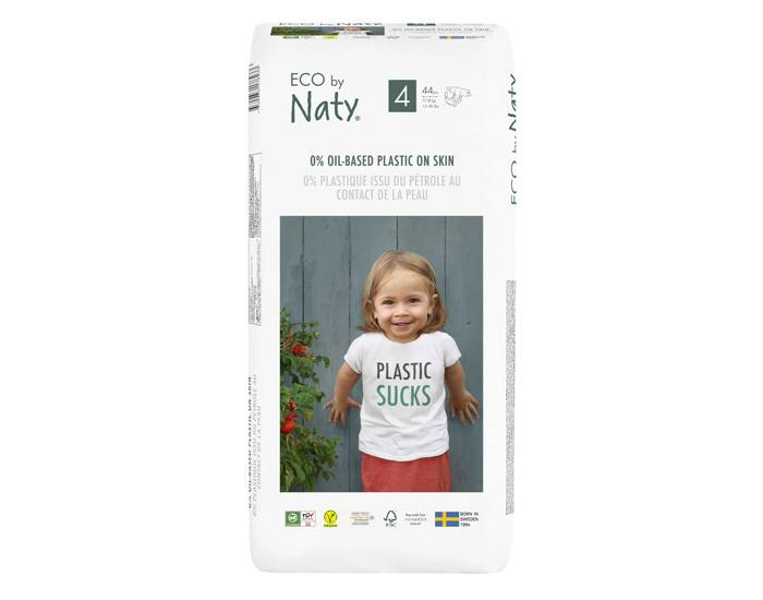 NATY Couches Écologiques Eco by Naty - Pack Economique T4 / 7-18 kg / 44 couches