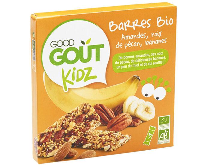 GOOD GOûT GOOD GOUT KIDZ Barres Bio Amandes Noix de Pécan Bananes - 3 x 20 g
