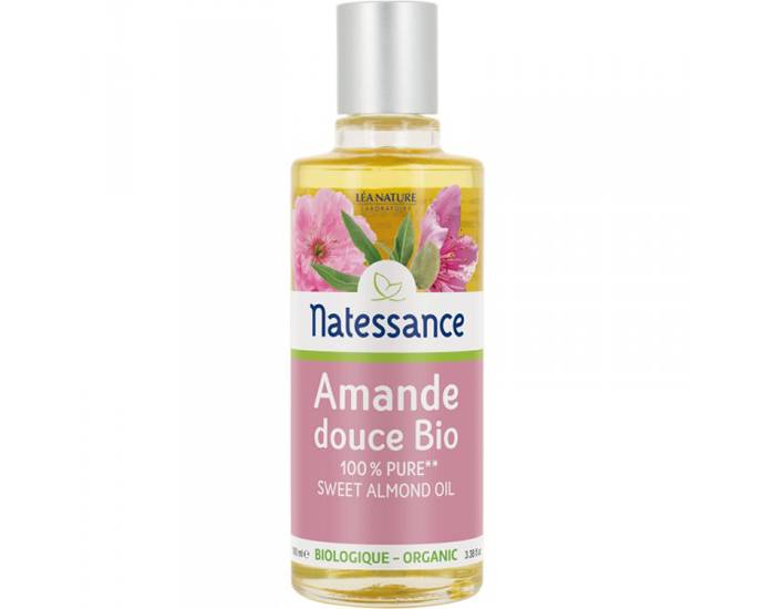 NATESSANCE Huile Végétale d'Amande Douce Bio - 100 ml