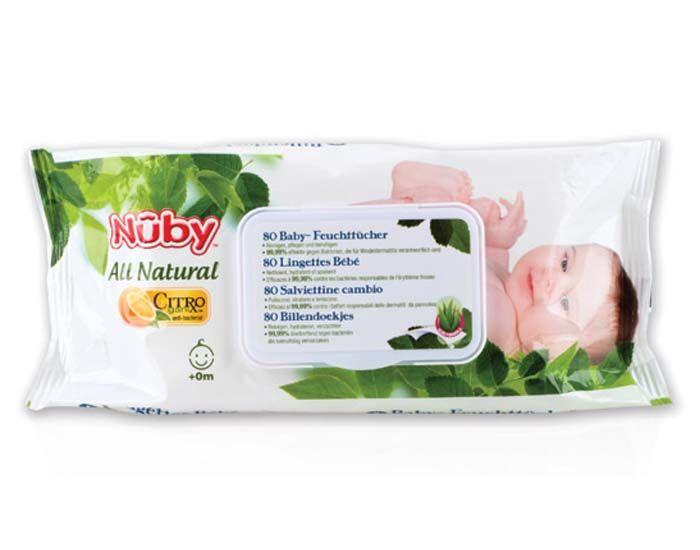 NUBY Pack x3 Lingettes Bébé pour le Change 3 x 80 lingettes