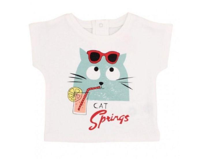 """LA QUEUE DU CHAT T-Shirt Bébé en Coton Bio """"Cat Springs""""  3 mois"""