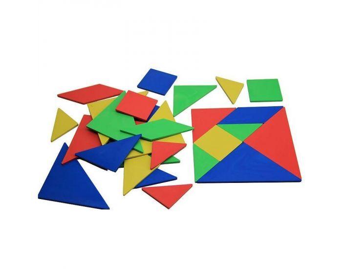 Montessori S'amuser Autrement Lot De 4 Tangrams En Re-Plastic - Dès 3 ans