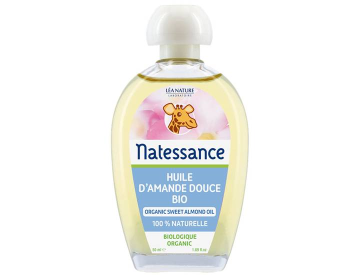 NATESSANCE Huile d'Amande Douce Bio - 50 ml